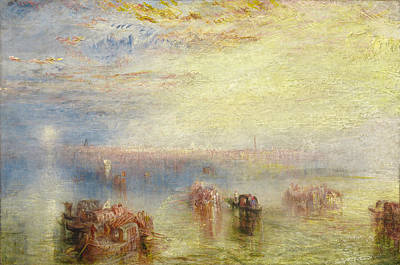 English Painting - Approach To Venice by JMW Turner