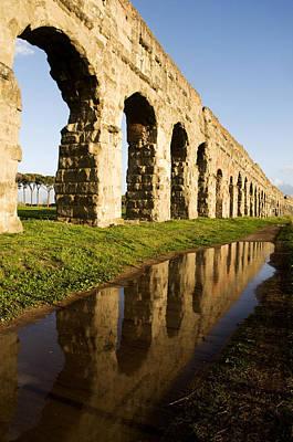 Old Ruin Photograph - Aqua Claudia Aqueduct by Fabrizio Troiani
