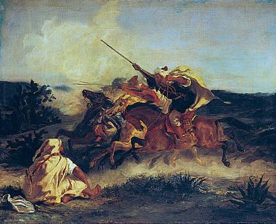Rifle Painting - Arab Fantasy by Eugene Delacroix
