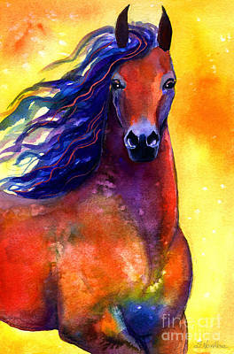 Russian Drawing - Arabian Horse 1 Painting by Svetlana Novikova