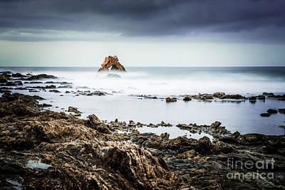 Arch Rock In Corona Del Mar Newport Beach California Print by Paul Velgos