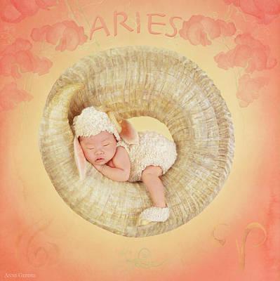 Zodiac Photograph - Aries by Anne Geddes
