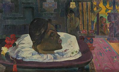 Human Head Painting - Arii Matamoe by Paul Gauguin