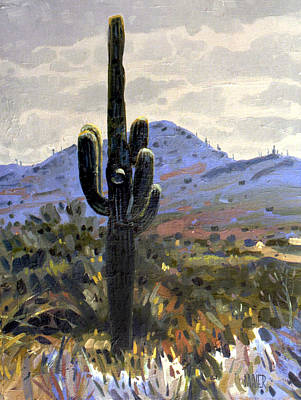 Saguaro Cactus Painting - Arizona Icon by Donald Maier