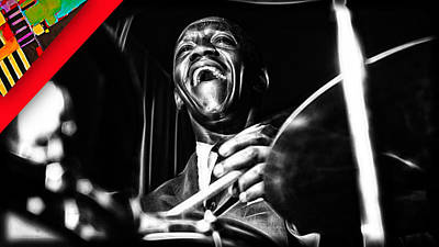 Art Blakey Collection Print by Marvin Blaine