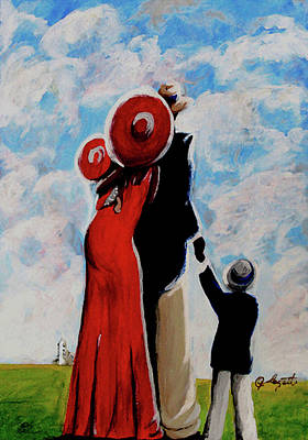 Painting - As For Me And My Family by C F  Legette