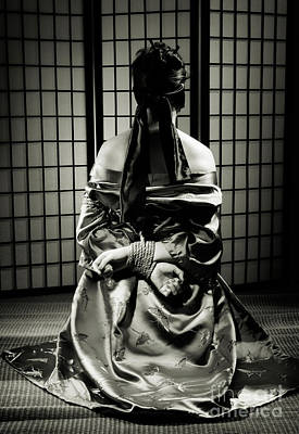 Bdsm Photograph - Asian Woman With Her Hands Tied Behind Her Back by Oleksiy Maksymenko