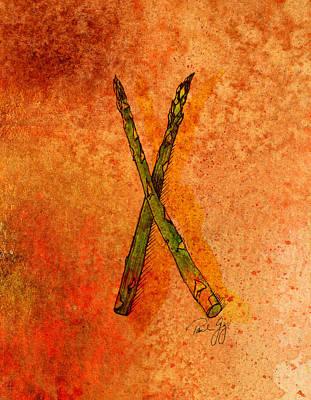 Asparagus Mixed Media - Asparagus by Paul Gaj