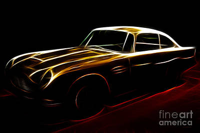 Classic Fractal Art Photograph - Aston Martin Db5 by Wingsdomain Art and Photography