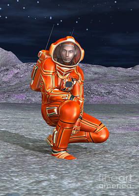 Digital Art - Astronaut by Design Windmill