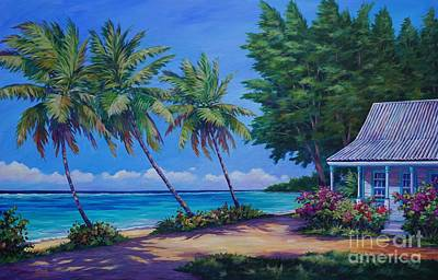Bougainvillea Painting - At The Island's End by John Clark