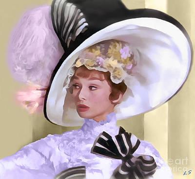 Painting - Audrey Hepburn 1 by Sergey Lukashin