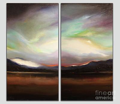 Dyptich Painting - Aurora by Deborah Munday