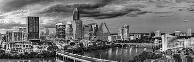 Austin Skyline Photograph - Austin Skyline Black And White by Tod and Cynthia Grubbs