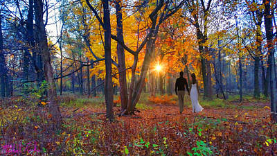 Autumn In The Meadow Print by Michael Rucker