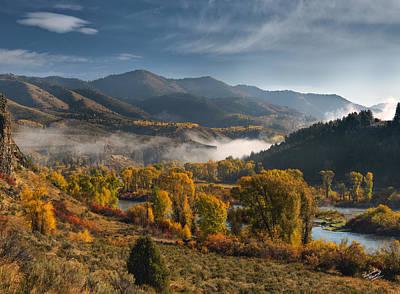 Autumn Light Along The Snake River Print by Leland D Howard