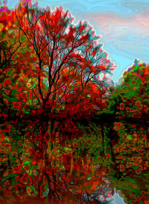 Autumn Reflections Print by Lilia D