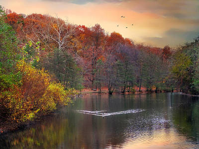Waterfowl Digital Art - Autumn's Allure by Jessica Jenney