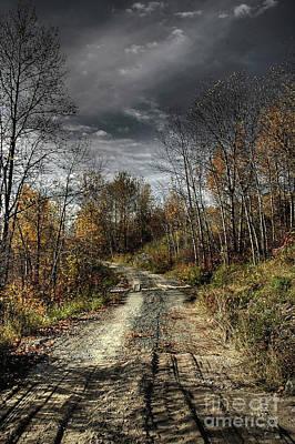 Heather Rivet Photograph - Autumns Road by Heather  Rivet