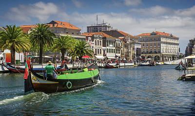 Gondola Photograph - Aveiro Moliceiro Boat by Carlos Caetano