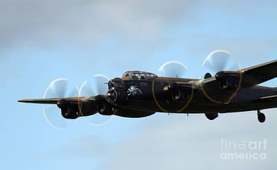 Raf Photograph - Avro Lancaster by Angel  Tarantella
