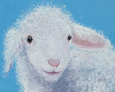 Interior Design Painting - Baby Lamb by Jan Matson