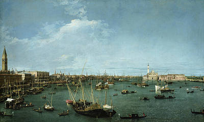 Italian Landscape Painting - Bacino Di San Marco, Venice by Canaletto