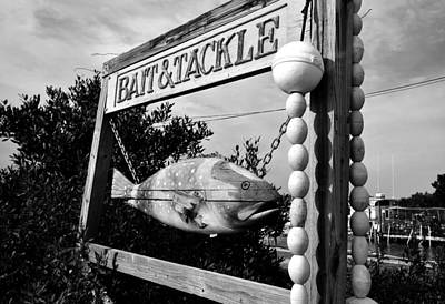 Cedar Key Photograph - Bait And Tackle by David Lee Thompson