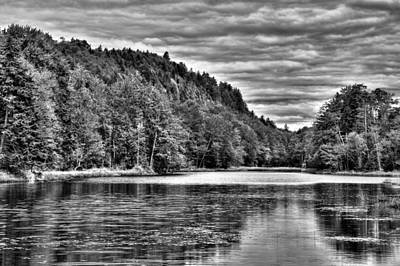 Bald Mountain Pond - Old Forge Print by David Patterson