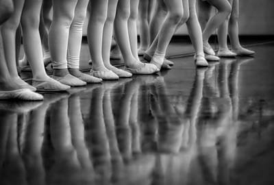 Child Ballerina. Photograph - Ballet Class by Skitterphoto