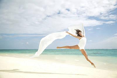 Ballet On Beach Print by Brandon Tabiolo - Printscapes