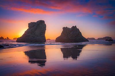 Darren Photograph - Bandon Sunset by Darren  White