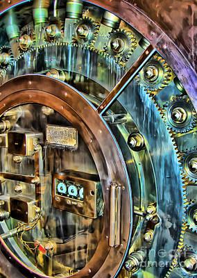 Bank Vault Door Print by Clare VanderVeen