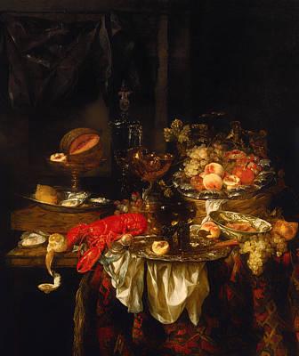Interior Still Life Painting - Banquet Still Life by Mountain Dreams