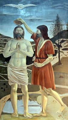 Baptism Print by Munir Alawi