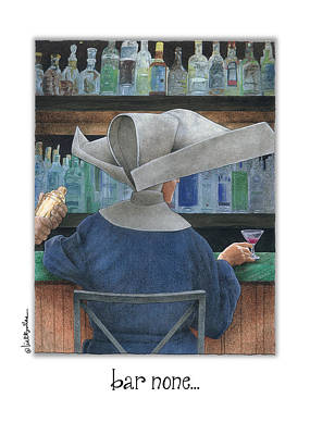 Martini Painting - Bar None... by Will Bullas