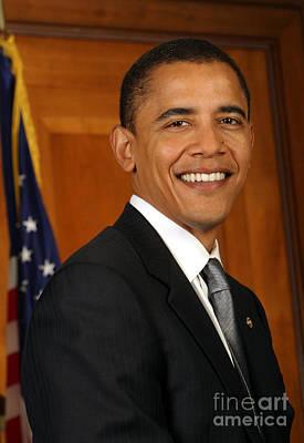 Barack Obama Print by Celestial Images