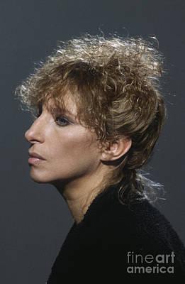 1980s Photograph - Barbra Streisand by Terry O'Neill