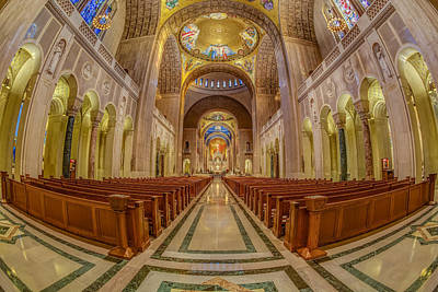 Basilica Of The National Shrine Of The Immaculate Conception Print by Susan Candelario