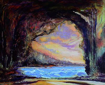 Painting - Bat Cave St. Philip Barbados  by Julianne Felton
