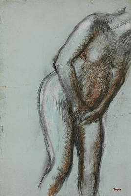 Impressionism Drawing - Bather  by Edgar Degas