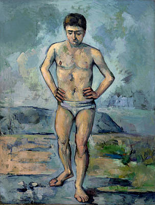 Bathing Painting - Bather by Paul Cezanne