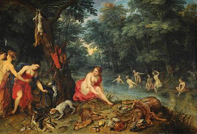 Legend Painting - Bathing Nymphs by Jan Brueghel the Elder