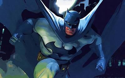 Batman Digital Art - Batman Night Poster by Egor Vysockiy