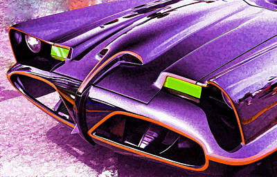 Famous Book Digital Art - Batmobile by Allen Beatty