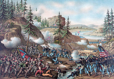 Battle Of Chattanooga Print by American School