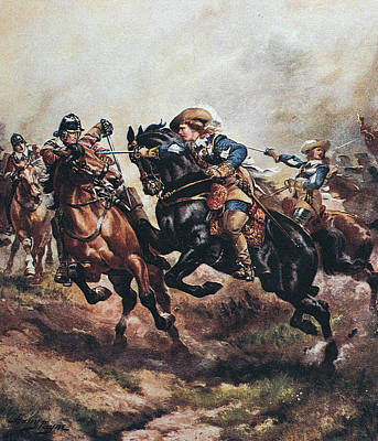 Prince Harry Photograph - Battle Of Edgehill, 1642 by Granger
