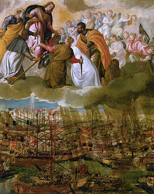 Veronese Painting - Battle Of Lepanto by Paolo Veronese