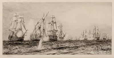 Battle Of Trafalgar Print by William Lionel Wyllie