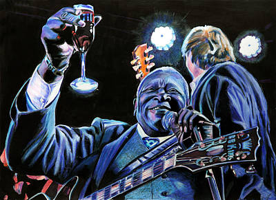 Lucille Drawing - Bb King by Chris Benice